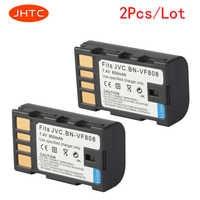 JHTC 2 piezas 800mAh BN-VF808... BN-VF808U BN-VF815... BN-VF823 BNVF808 VF808 decodificado batería JVC GZ-MG130 GZ-MG131 MG132 MG133