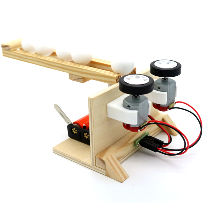 DIY Ball Launcher Children Science Experiment Kit Assembly Electric Model Children Invention Teaching Aids Toys Gifts