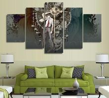 5 Panels Wall Art Death Note Anime Modern Paintings Art Canvas Paintings Poster Unframed 04