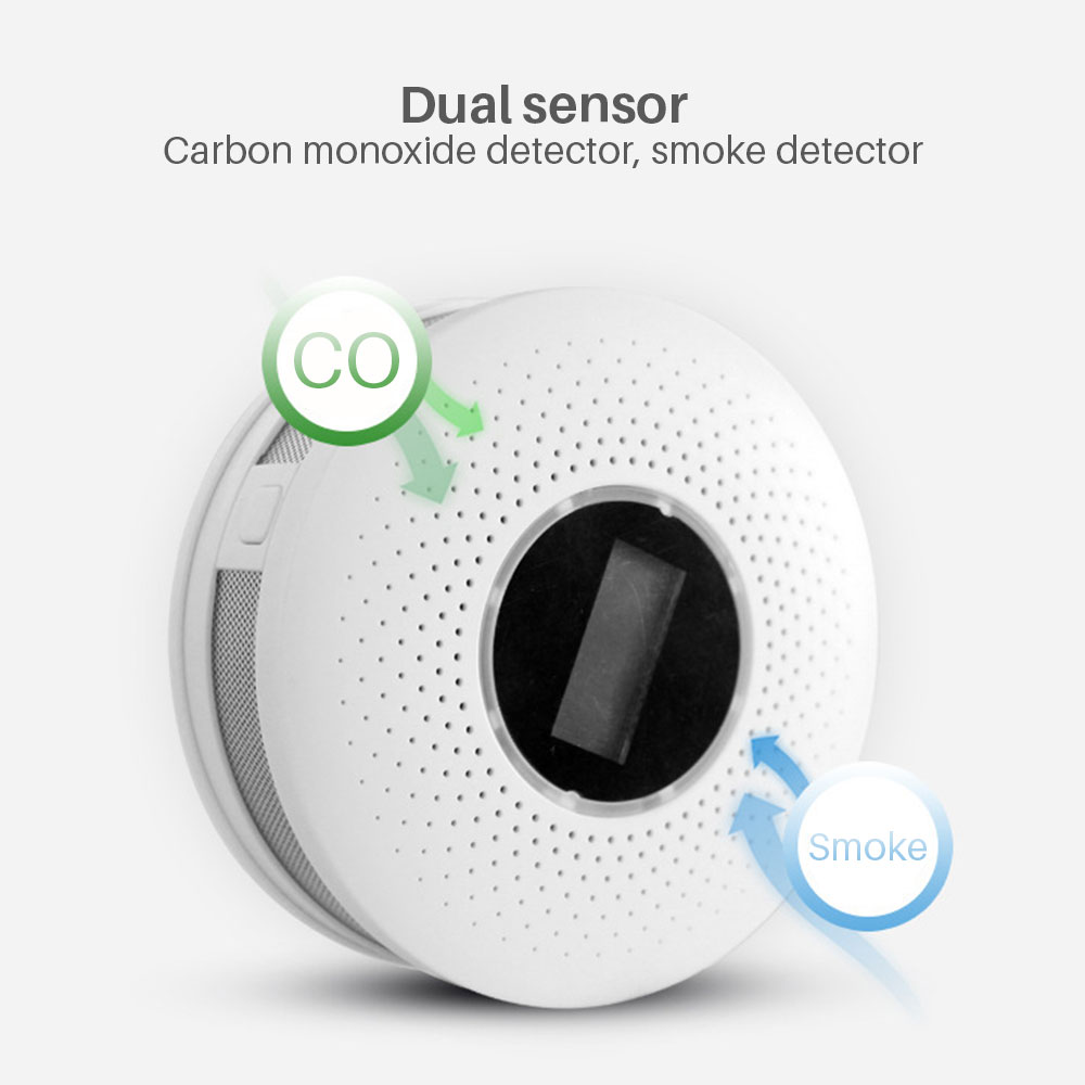 Image 2 - Smoke Detector Sensor Fire Alarm Universal CO&Smoke Detector Carbon Monoxide For Kitchen/Restaurant/Hotel/Home Security-in Smoke Detector from Security & Protection
