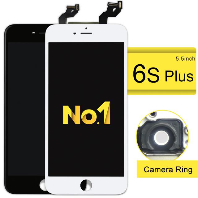 3 pçs/lote para iphone 6 s plus tela de toque digitador assembléia lcd 3d com força 5.5 polegada display + câmera titular nenhum morto pixel