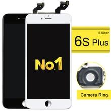 3 teile/los für iphone 6 s plus lcd mit 3d kraft touchscreen digitizer montage 5,5 zoll display + kamerahalter keine toten pixel