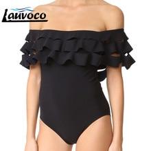 16 видов стилей цельный купальник женский с прокладками женский рюшами с высокой талией с открытыми плечами Монокини винтажный купальник bathing купальный костюм