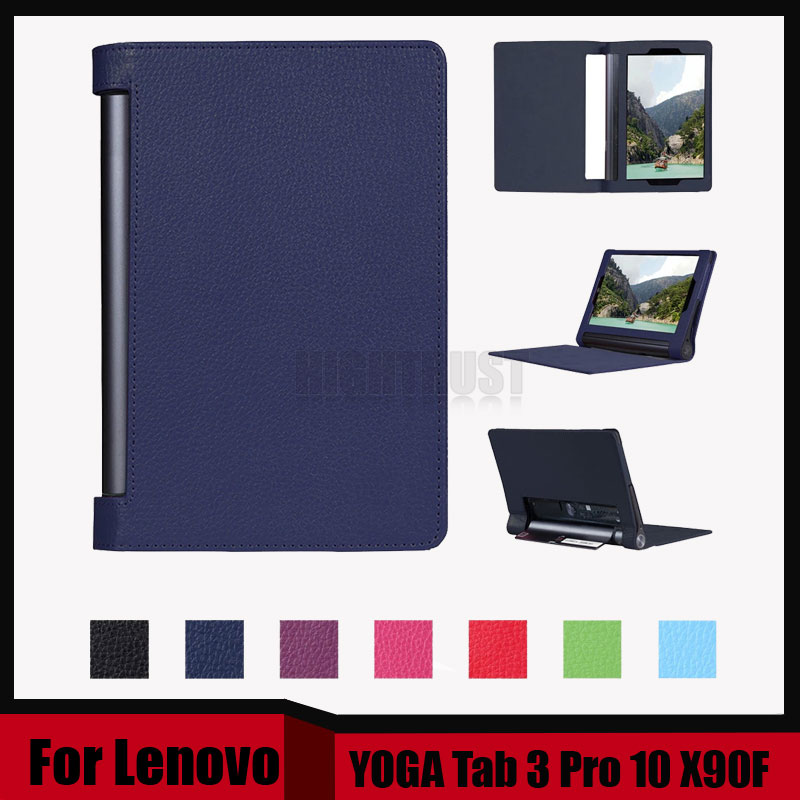 3 in 1 New Arrival Stand Litchi Pu leather case cover For Lenovo YOGA Tab 3 Pro 10 X90 X90F tablet pc + Stylus + Screen Film new luxury fashion pu leather cover case stand cover case for lenovo yoga tab 3 8 850f yt3 850f tablet free film free stylus