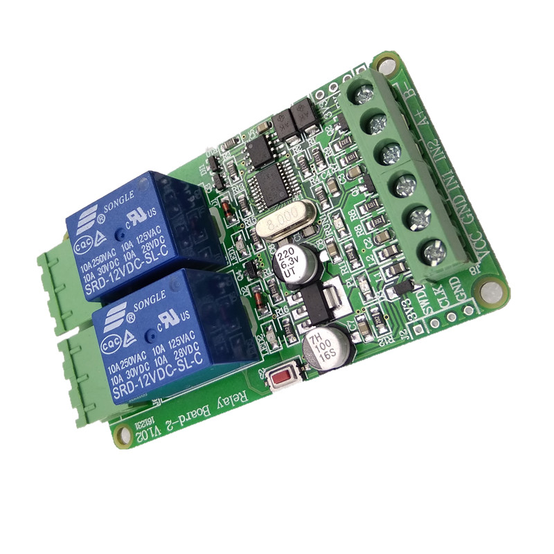Modbus-Rtu 2-way Relay Module Output 2 Channel Switch Input TTL