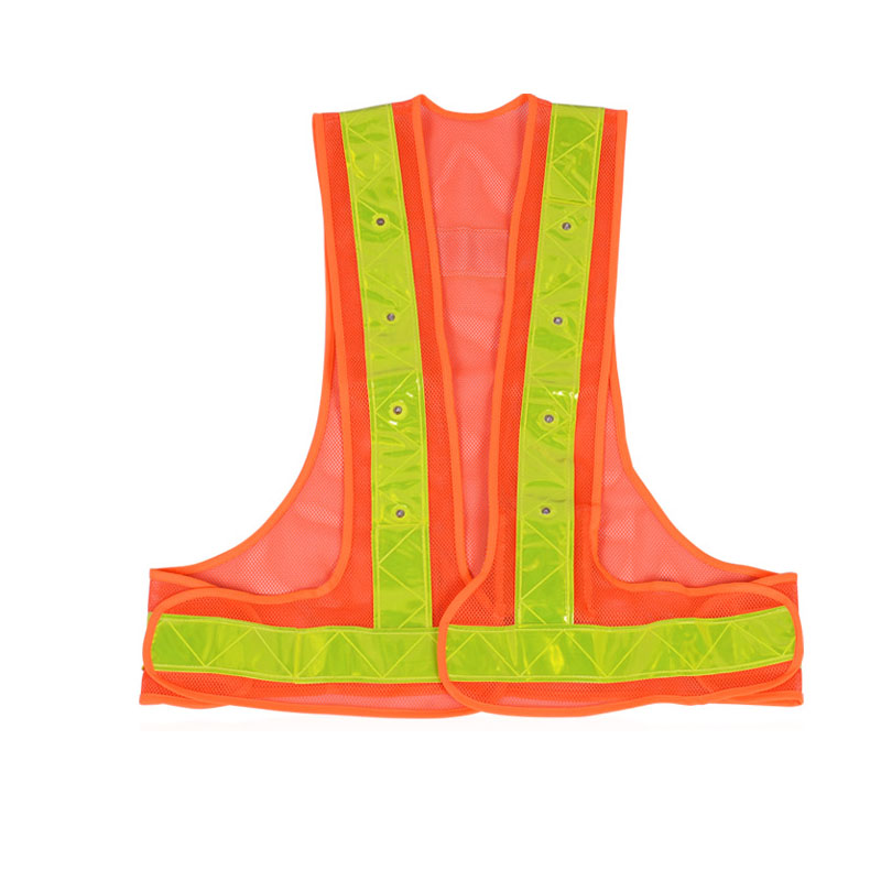 Motorcycle Reflective Safety Vest Lightweight and Adjustable for Jogging, Cycling, Working, Motorcycle Riding or Running