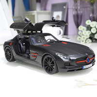 1:18 Alloy Real Car Model Simulation Merce SLS Alloy Car Model Metal Toy Car Ornaments Gift For Collection Model
