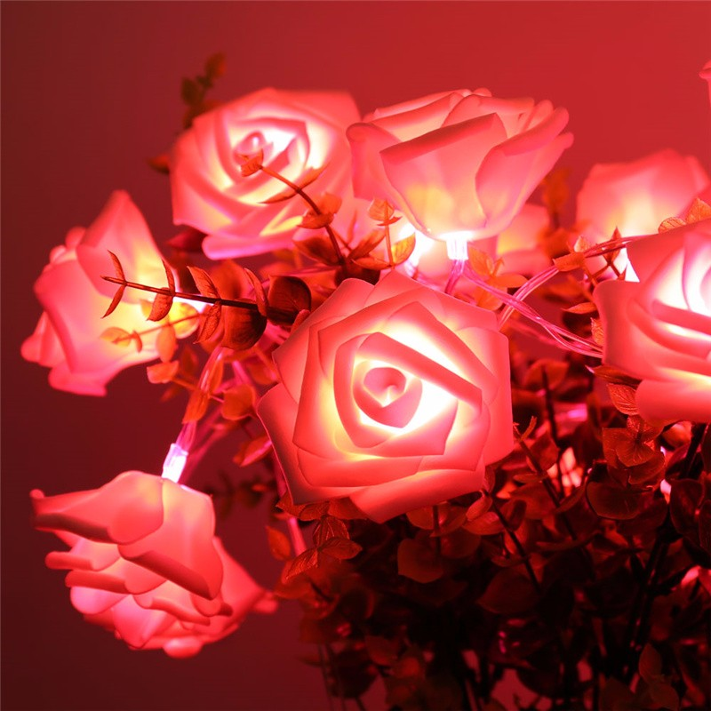 20 LED Novelty Rose Flower Fairy Strin (8)
