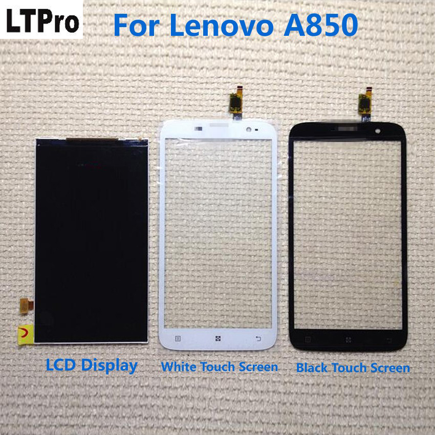 LTPro 100% Tested Working Black/White <font><b>A850</b></font> Sensor <font><b>LCD</b></font> Display Touch Screen Digitizer For <font><b>Lenovo</b></font> <font><b>A850</b></font> Mobile Phone Replacement image