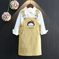 2016 Korean children fall fashion girls small baby boy cute skirt with shoulder straps are free shipping