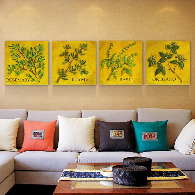 ✓canvas painting 2panels The leaves Canvas Living Room wall art ...
