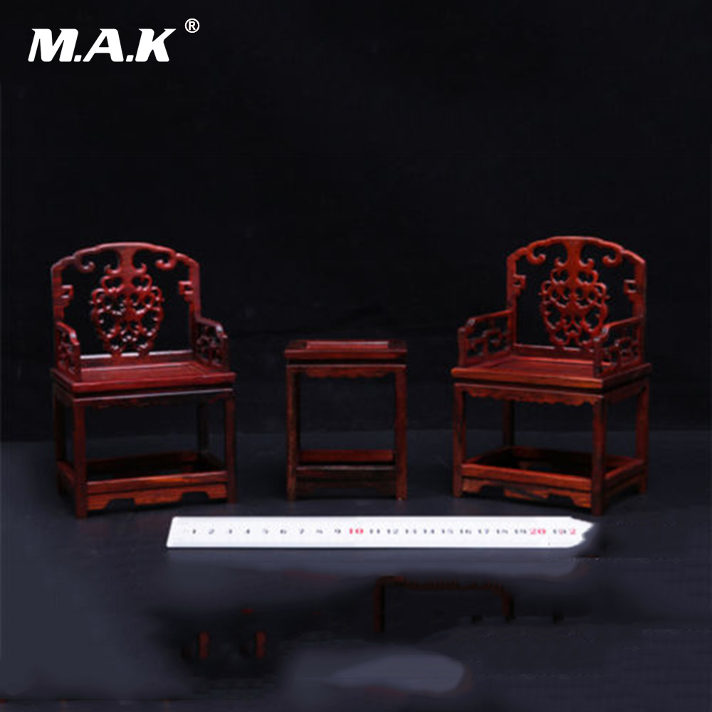 1:6 Scale Scene Furniture Wooden Tables and Chairs Model Chinese Style for Action Figures a model for developing rating scale descriptors