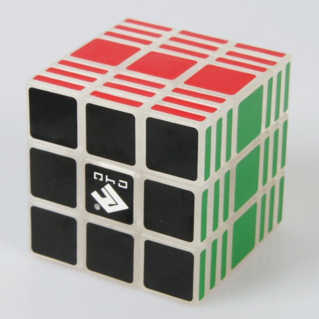 C4U Cube4U 3x3x7 Cubo Mágico de Plástico Transparente Venta Caliente Rompecabezas Twisty Puzzle Juguete cubo mágico para Speedcubers