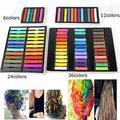 Fácil cores temporários não tóxico cabelo Chalk Dye pastéis suaves cabelo Kit 36 Color Set cabelo beleza 04TM 7GPK 8TDK