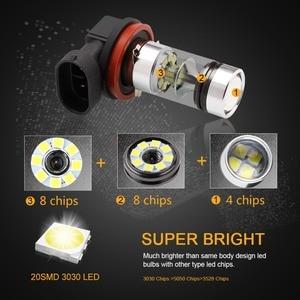 Image 2 - H8 H11 LED 전구 HB4 9006 HB3 9005 안개 조명 운전 3030SMD 테일 램프 자동차 조명 주차 1250LM 12V   24V 자동 6000K 화이트