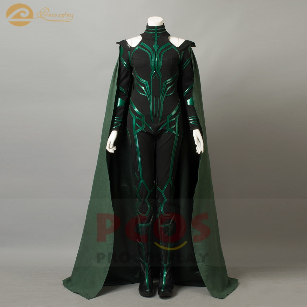 Hot~Ready to Ship New Thor:Ragnarok The Goddess of Death Hela Cosplay Costume without Shoes (Version B)mp003792