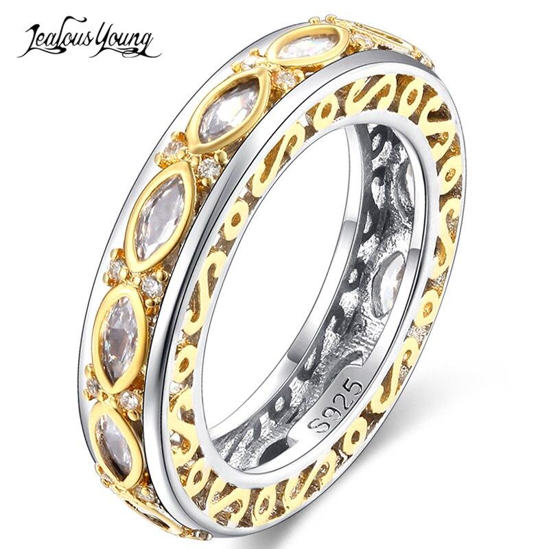 Hochzeits- & Verlobungs-schmuck Vornehm Gothic Gold Farbe Inlay Oval Kristall Frauen Engagement Ringe Vintage Aaa Zirkonia Ring Mode Perty Schmuck Anillos Mujer