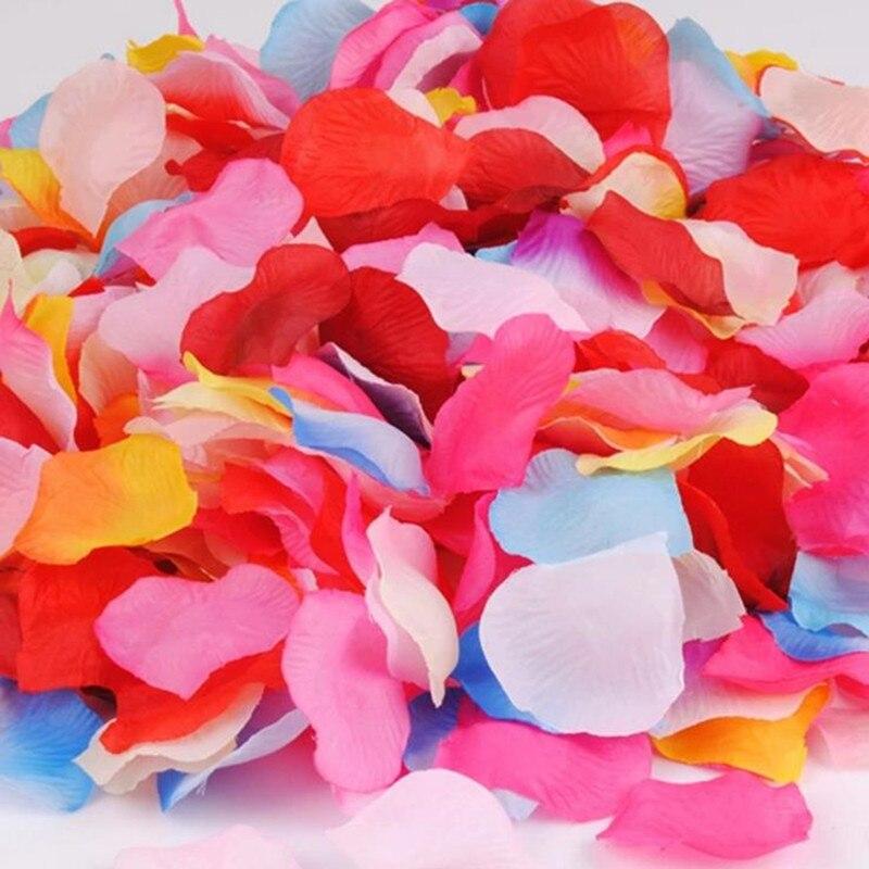 100pcs/bag Wedding Events Decoration Silk Rose Petals Table Artificial Flowers Engagement Celebrations Party Supplies Pakistan