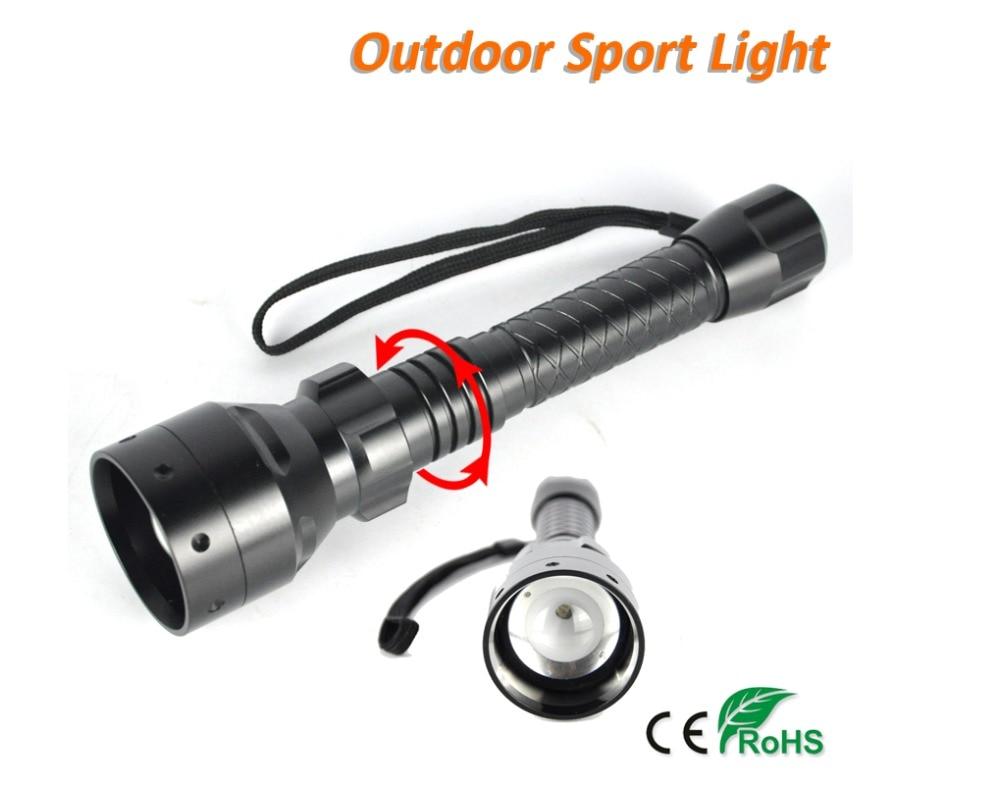 BORUiT Infrarouge lampe de Poche 1 Mode Nuit Vision Zoomables Alliage Torche Lumière Chasse Lampe Lanterne À La Main par 18650 Batterie