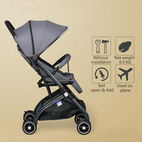 Super Light and Hot Selling Baby Stroller with 8 Wheels Baby Pram newborn baby car boarding directly