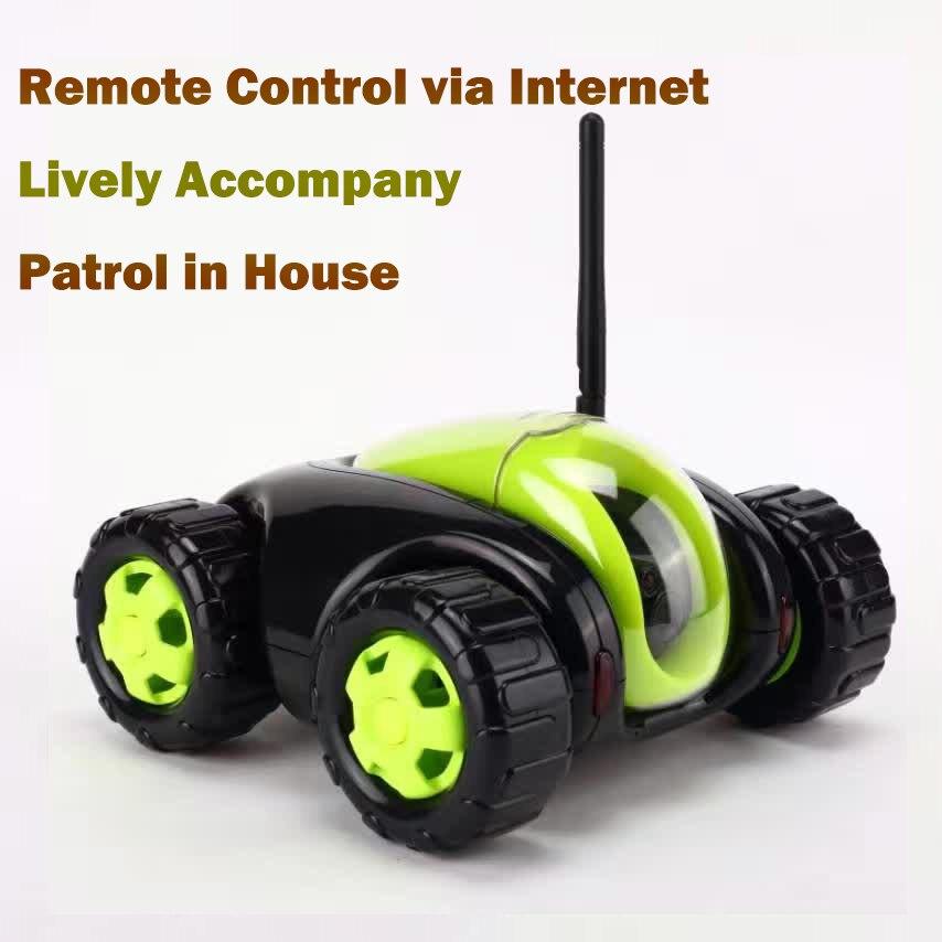 NEW RC Auto con Telecamera ip 4CH serbatoio Wifi Nube Rover nube Compagno Elettrodomestici IR Telecomando Un Tasto Home FSWB