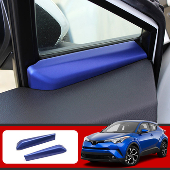 Car Styling 2 sztuk ABS plastikowa przednia wewnętrzna A filar trójkąt pokrywa tapicerka dla Toyota C-HR CHR 2016 2017 2018 2019 tanie i dobre opinie HIGH FLYING 2016-2019 ABS Plastic