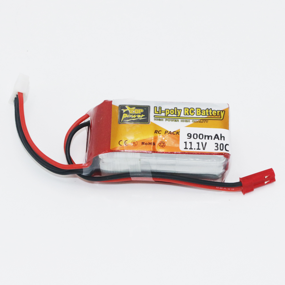 ZOP Power RC LiPo Battery 3S 11.1V 900mAh 30C Max 60C JST Plug For RC Quadcopter Drone Helicopter Car Airplane