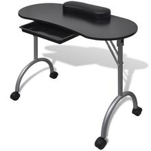Manicure Nail Table Portable Station Desk Spa Beauty Salon F