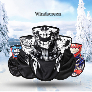 Image 3 - Nieuwe Winter Outdoor Ski Snowboard Motorcycle Winter Warmer Sport Volgelaatsmasker Pirates 3D Gedrukt Schedel Sjaal Skiën Masker