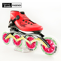 PASENDI 2017 New Style Inline Skating Shoes Adults Child Roller Skates Big Wheels Boots Hot Women Men Carbon Speed Skate Shoes