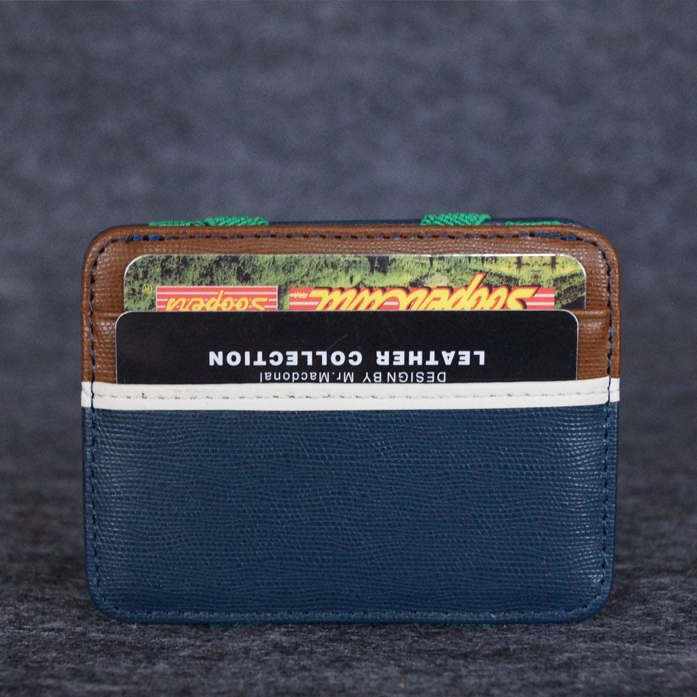 2018 hommes carte de crédit mini pince à billets en cuir de vache véritable portefeuille en cuir portefeuilles magiques hommes pince à billets carte sac à main