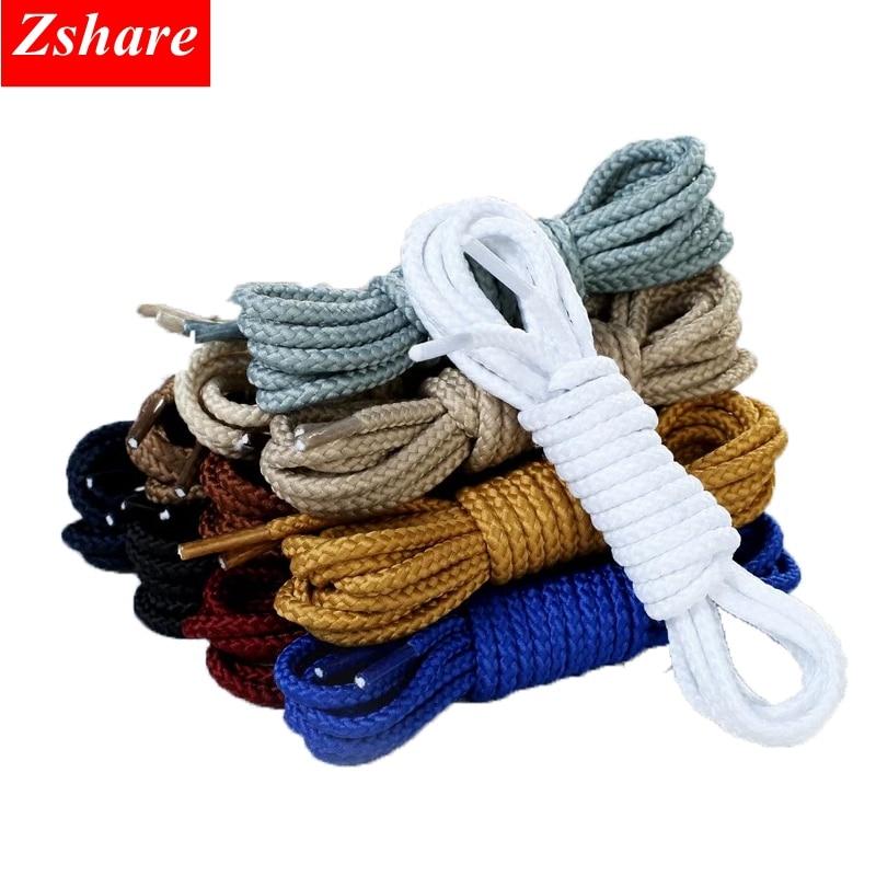 1Pair Round Shoelaces Sneakers Shoe Laces Kids Adult Outdoor Sports Shoelaces Strings Length 80 100 120 140 160CM 14 Colors
