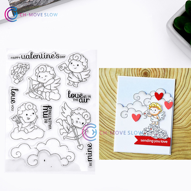 CH Angel Transparent Clear Silicone Stamp Seal For DIY Scrapbooking Photo Album Decorative Sheets