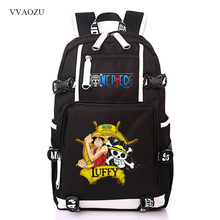One Piece Luffy Cosplay Backpack Cartoon Casual Rucksack Teenagers Men Women Laptop Travel Bag Student School