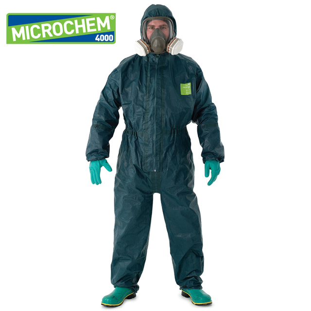 free shipping Advanced 4000 chemical protective clothing one piece protective clothing