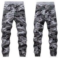 Mens Winter Warm Fleece Pants Military Camouflage Hiphop Sweatpants Elastic Waist Harem Dance Joggers Thick Baggy