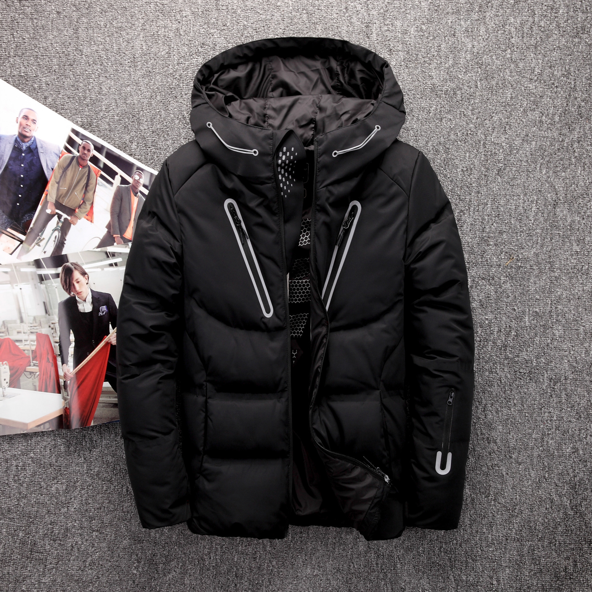 Winter Jacket Clothing Parka Men Coat Mens Duck Thick Brand title=