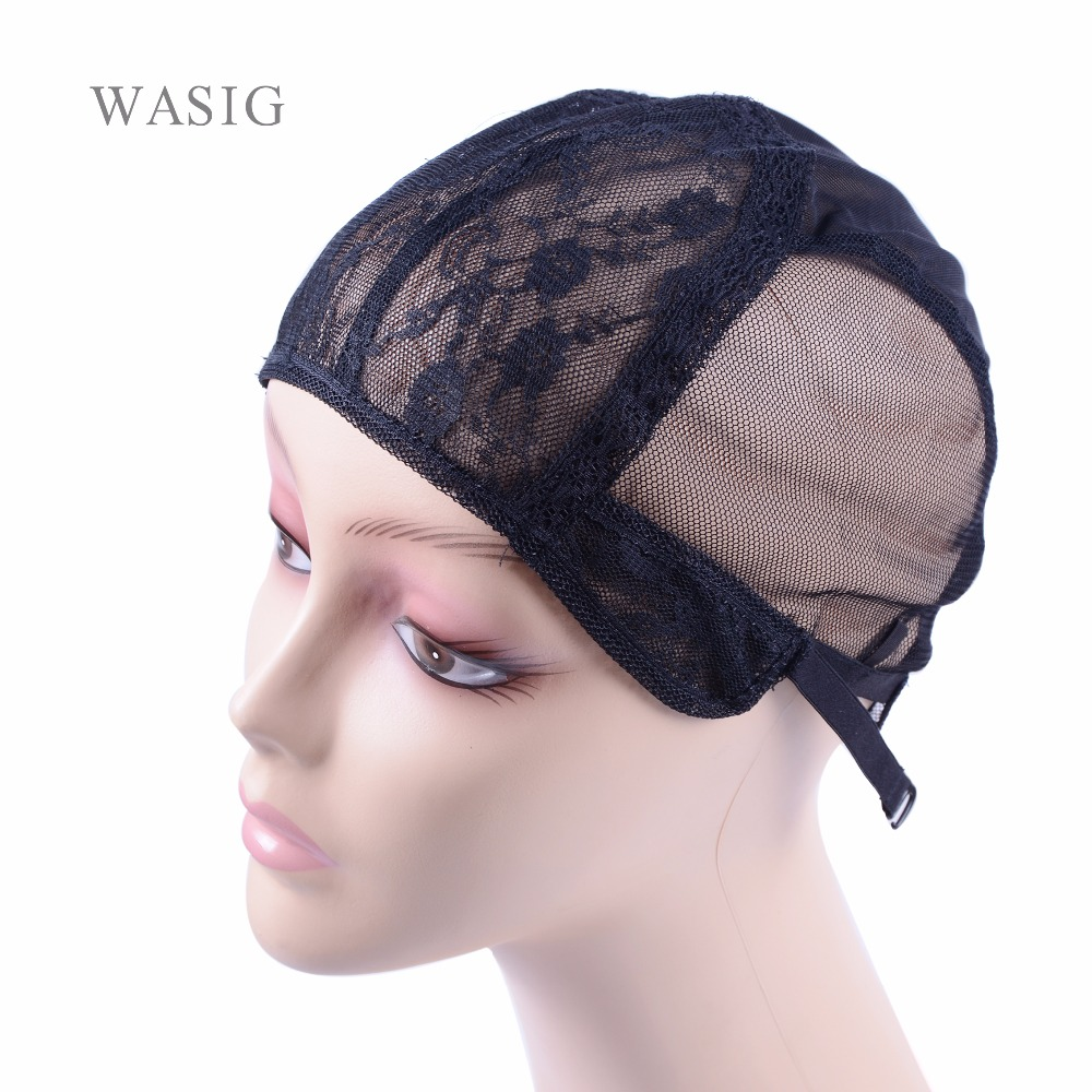 10 Pcs/lot Swiss Lace  Double Lace Wig Caps For Making Wigs  Hair Weaving  Adjustable Wig Cap  Black Dome Cap For Wig Hair Nets