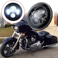 FADUIES Black New 7 Inch Motorcycle Projector Daymaker Hi Lo LED Light Bulb Headlight For Harley