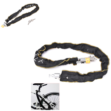 Motorbike Motorcycle Scooter Bike Cycle Motor Bicycle Chain Pad Lock Security Iron Chain Inside + 2Keys high quality(China)