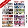 160Designs 100pcs Lot Hot Water Transfer Nail Art Stickers Full Cover Flowers Cartoon DIY Beauty Nail