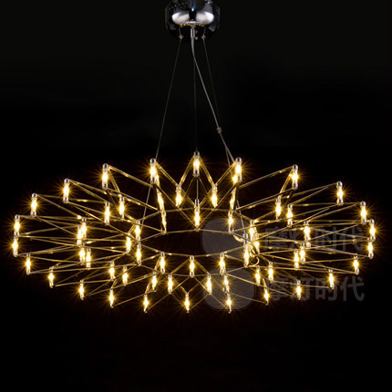 Nordic personalized bar counter led flower pendant light brief modern stainless steel Raimond LED Firework Lamp