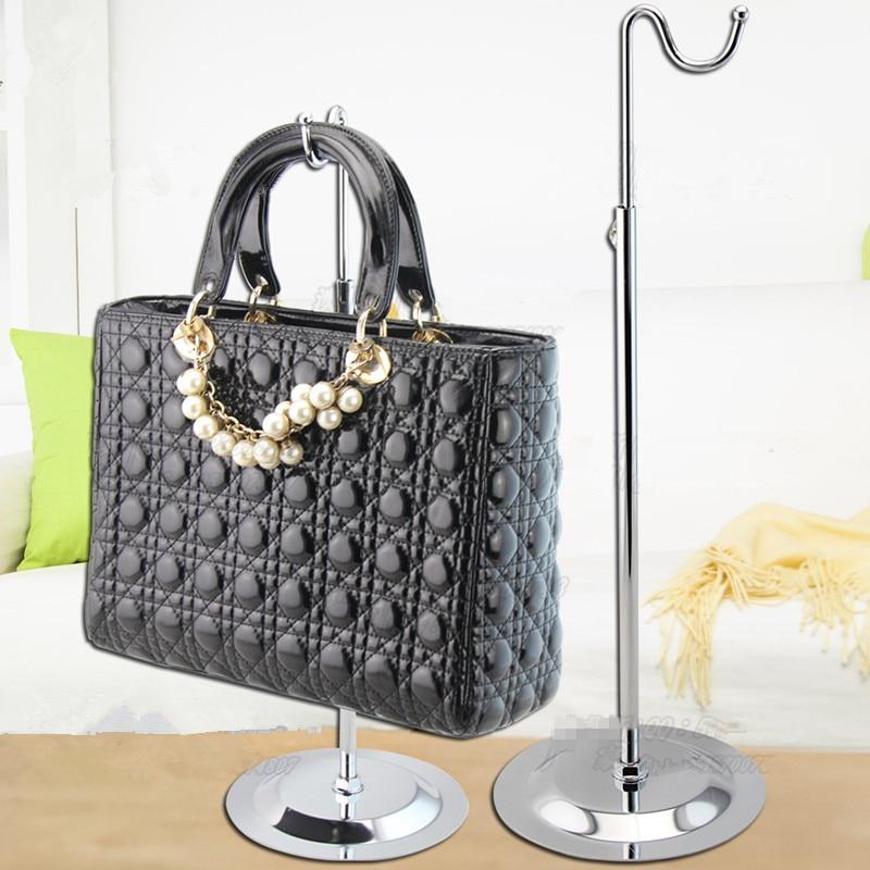 free shipping metal single curved hook adjustable women bagshandbag display stand rack 10pcs