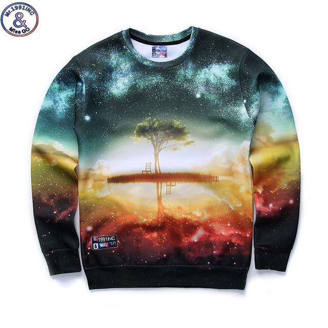Mr.1991 brand 12-18years big kids brand sweatshirt girl Beautiful scenery 3D printed hoodies girls jogger sportwear teens W29