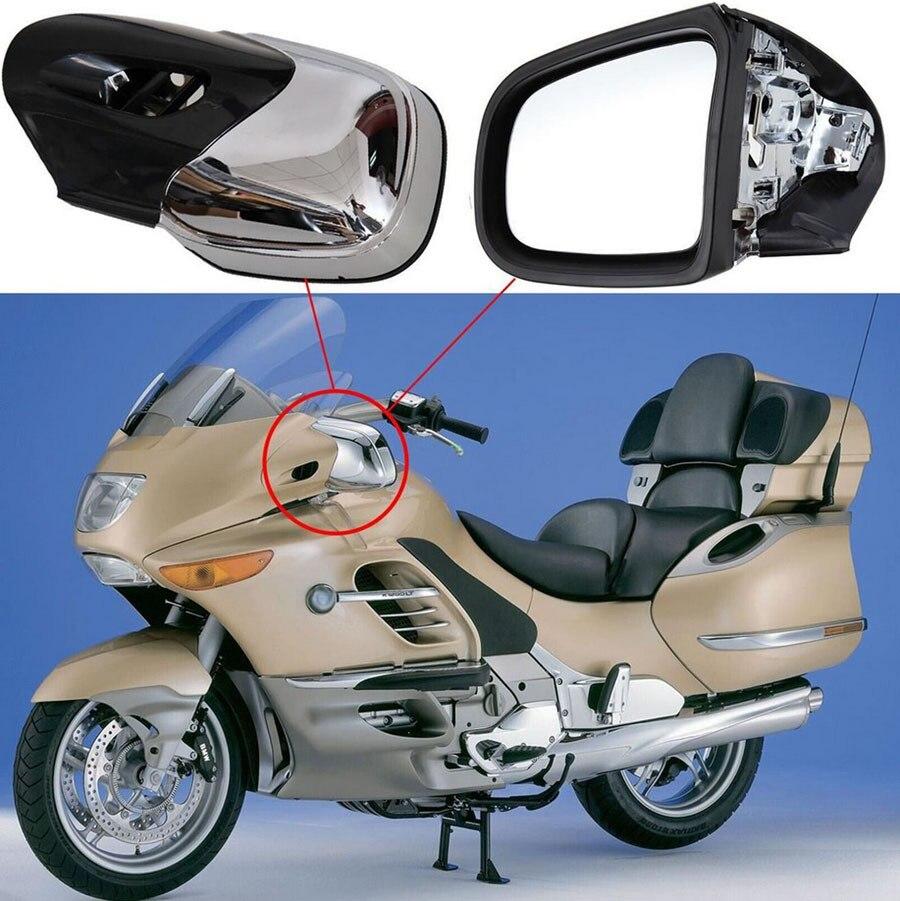 Хром Цвет заднего вида Левый и правый зеркала для BMW K1200 K1200LT K1200M 1999 2008 зеркало заднего вида мотоцикла Запчасти Новый
