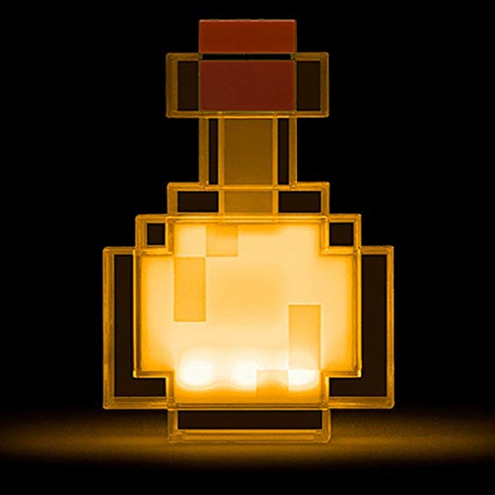 Minecraft Color Changing Potion Bottle Lights Up and Switches Between 8 Different Colors