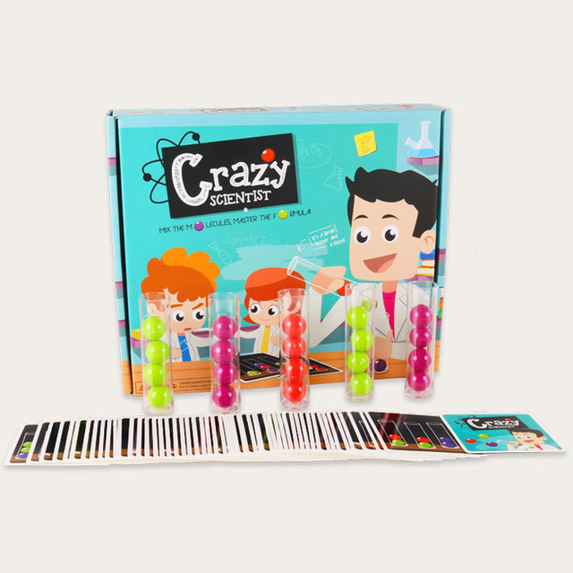 Crazy Scientist Test Tube Card Concentration Training Educational leaening Toys gift for children kids party game