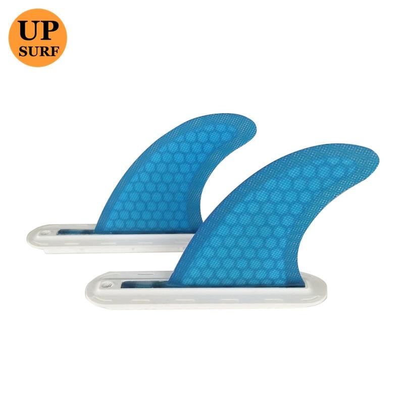 Future GL 2pcs/set Rear Fin For Quad Fin Set In Central Fin Box Honeycomb Surfing Surfboard Fins Fibreglass