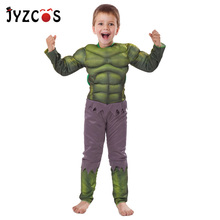 JYZCOS Kids Hulk Costume Halloween Costume Carnival Party Fancy Dress Boy Children Avengers Hulk Muscle Cosplay Clothing carnival costume christmas costume boy cosplay the hulk anime characters halloween costume for kids clothes