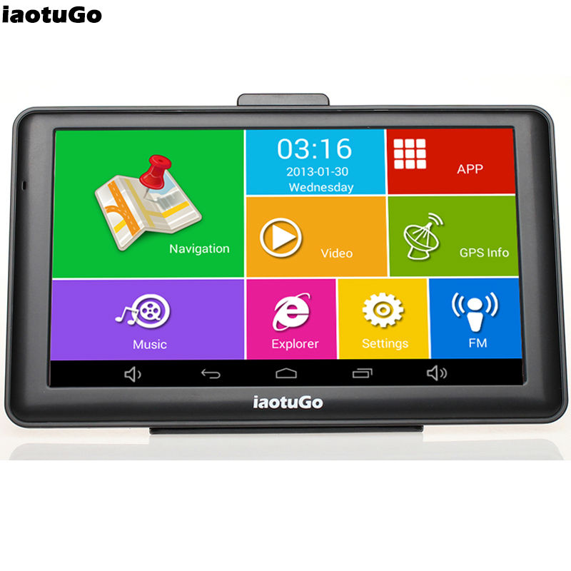 Iaotugo Quad-Core Capacitive-Truck-Navigator Android Gps Free-Truck WIFI Bluetooth 8G title=